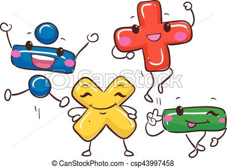 symbole-mathématique-mascotte-clipart-vecteur_csp43997458